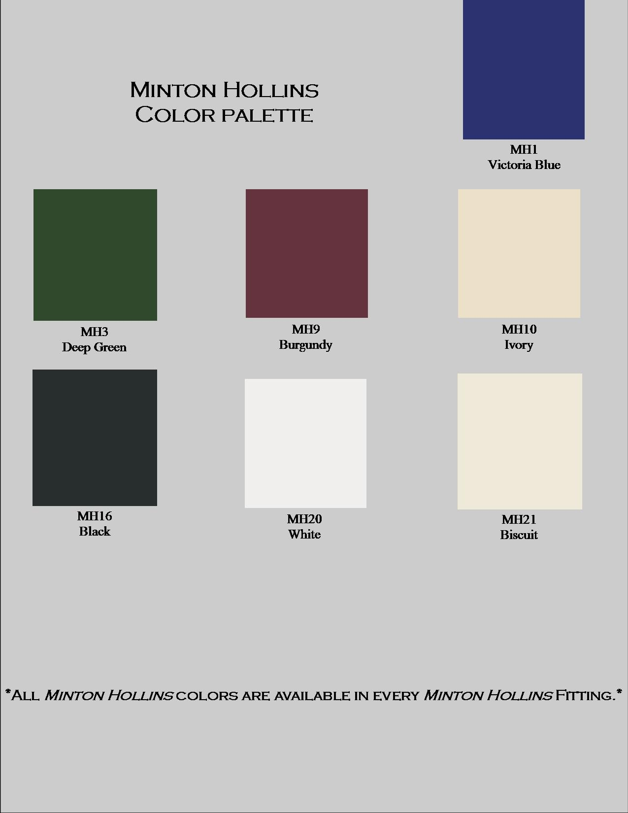 minton hollins colors amp fittings minton hollins products